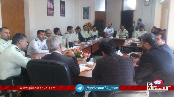 نشست فرماندار کردکوی با فرماندهان انتظامی و راهنمایی رانندگی برگزار شد