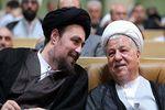 غیبت هاشمی رفسنجانی در تشییع پیکر آیتالله طبسی به دلیل سفر به شمال + عکس