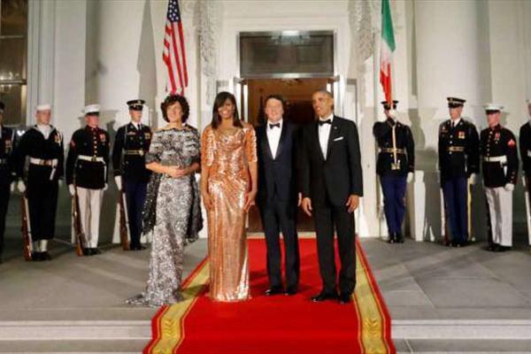 شام آخر «اوباما» در کاخ سفید + عکس