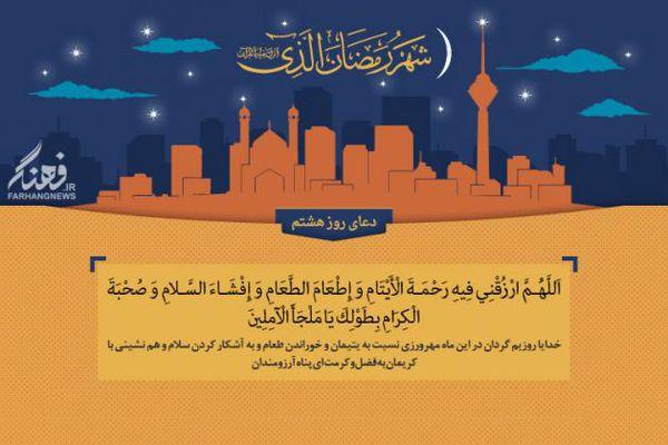 پوستر/دعای روز هشتم ماه مبارک رمضان