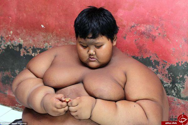 چاقترین پسر دنیا میخواهد رژیم بگیرد+تصاویر