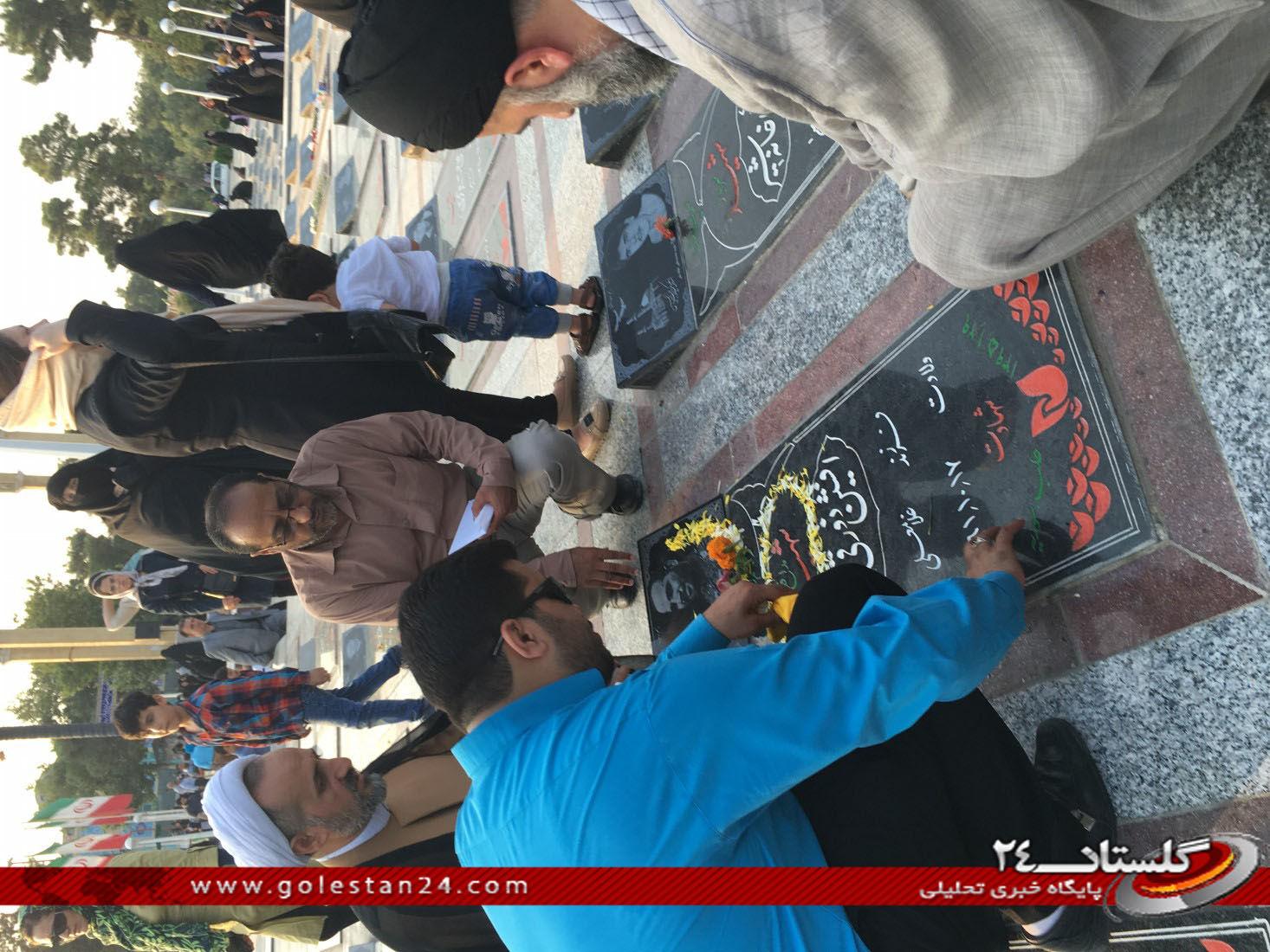 عطر افشانی مزار شهید طاهری (22)