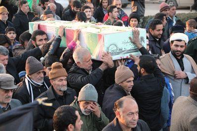 گزارش تصویری/ آیین استقبال از 2 شهید خوشنام دفاع مقدس در شهر فاضل آباد