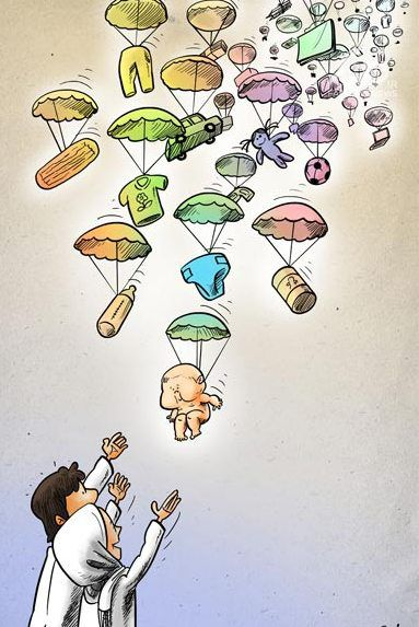 روزی بچه دست خداست/کاریکاتور