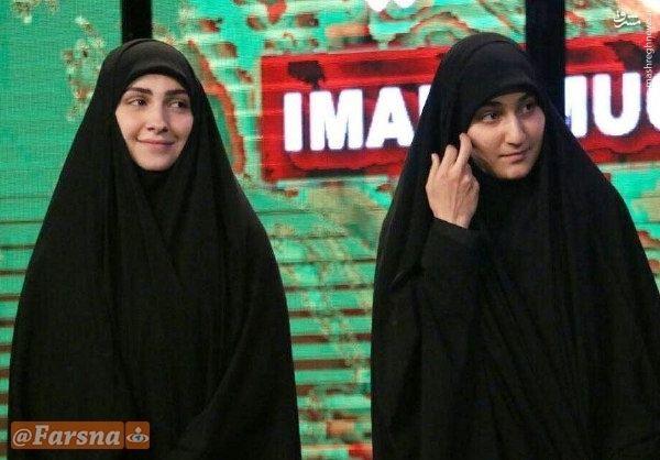 دختر حاج قاسم سلیمانی ودختر عماد مغنیه در یک قاب