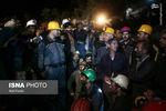 عکس یادگاری وزیر کار با کارگران معدن یورت