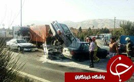 عکس خودروی بهادر مولایی پس از تصادف