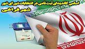 اسامی نهایی 31 کاندیدای ثبت نامی در انتخابات شورای شهر فراغی