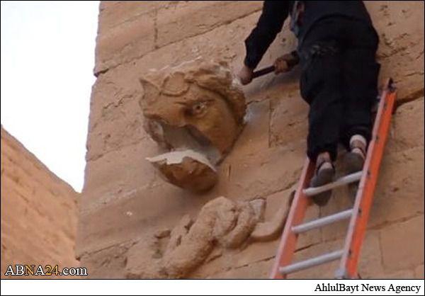 داعش شهر باستانی الحضر را تخریب کرد + تصاویر