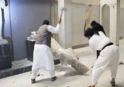 فاجعه فرهنگی داعش در موصل + فیلم و تصاویر