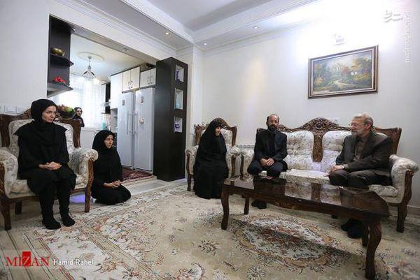 تصاویر/ دیدار رئیس مجلس با خانواده شهدای حادثه تروریستی مجلس