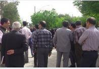 تجمع 50 نفره معلمان گلستانی در مقابل اداره کل آموزش و پرورش گلستان