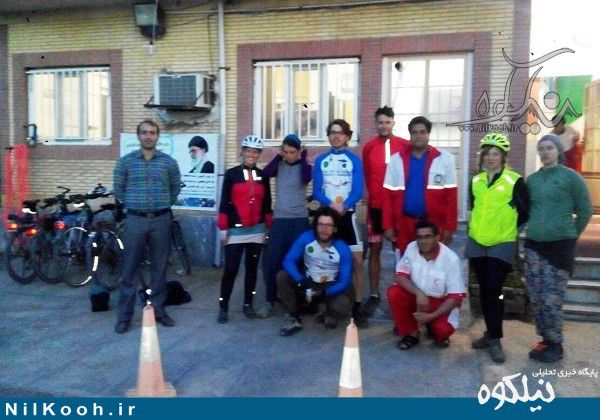 هفت دوچرخهسوار هلندی در هلالاحمر گالیکش اسکان داده شدند + تصاویر