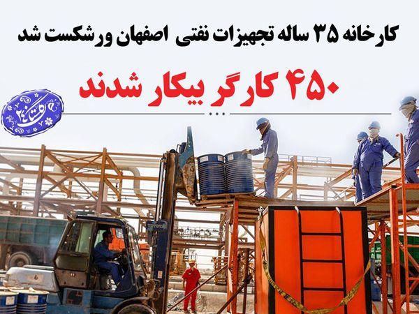 کارخانه تجهیزات فنی اصفهان ورشکست شد