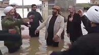 طوفان مداح معروف در سیل!