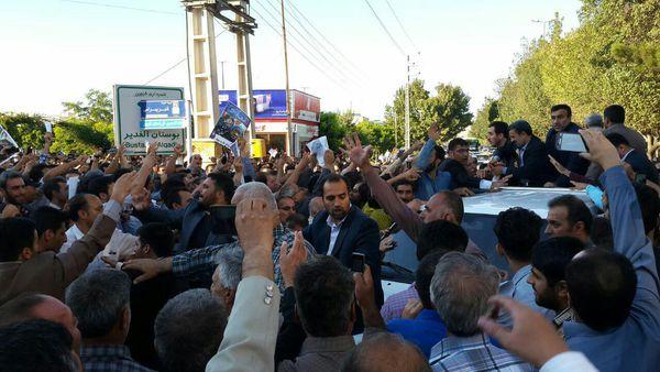 تصاویر حضور و استقبال از احمدی نژاد در قزوین