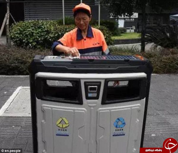 سطل زباله های چین به وای-فای مجهز شد