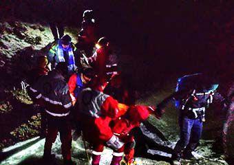 نجات کوهنوردان گمشده در ارتفاعات رامیان