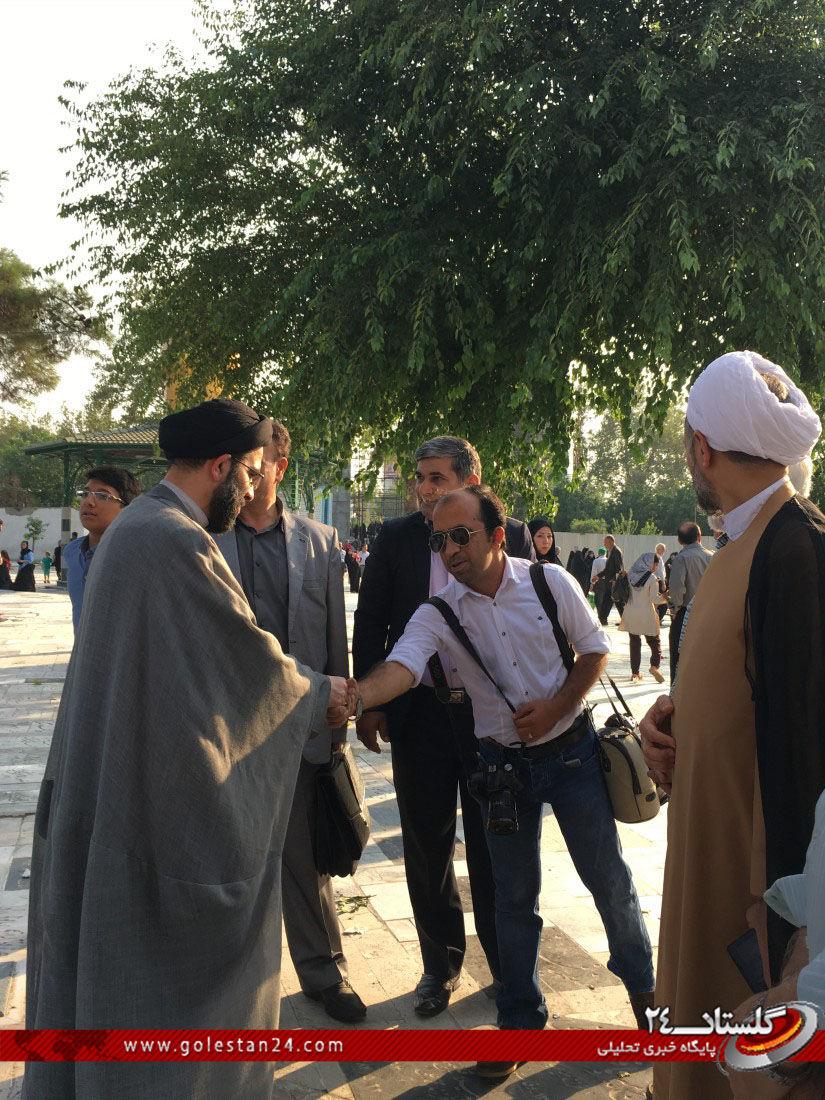 عطر افشانی مزار شهید طاهری (1)